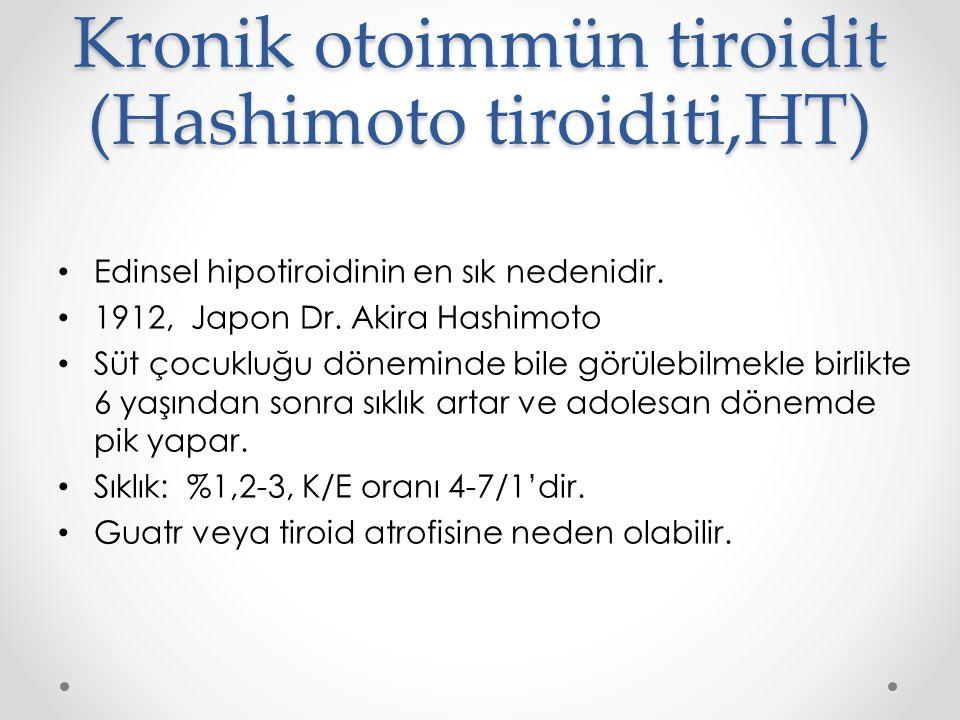 Kronik otoimmün tiroidit (Hashimoto tiroiditi,HT)