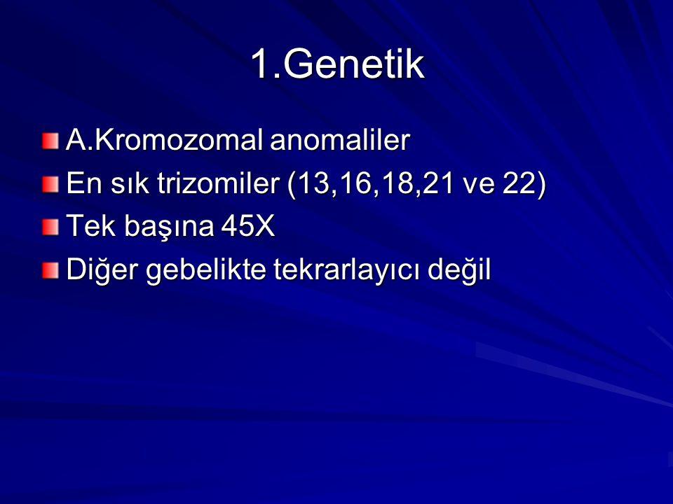 1.Genetik A.Kromozomal anomaliler