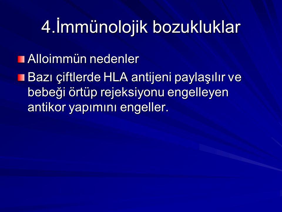 4.İmmünolojik bozukluklar