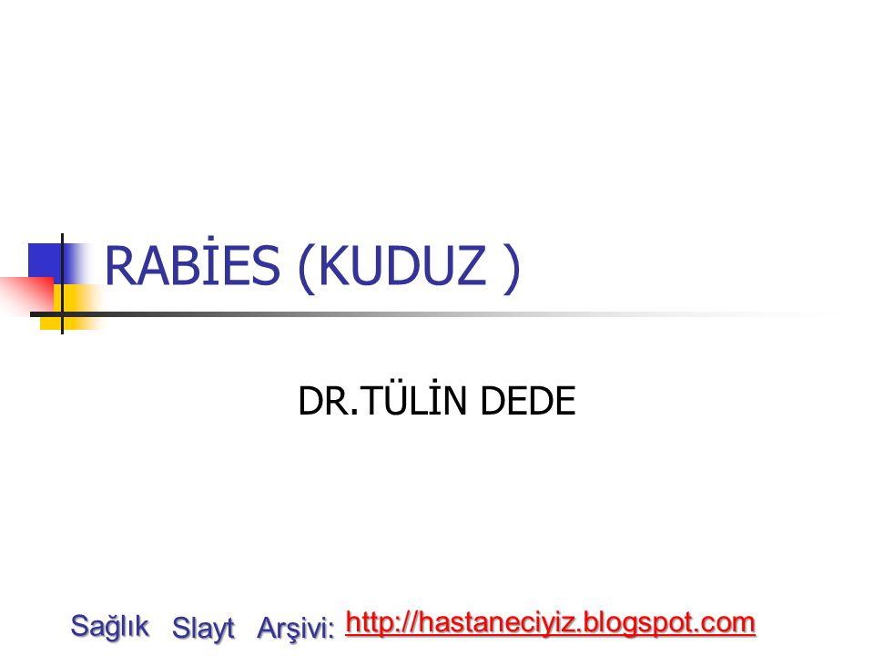RABİES (KUDUZ ) DR.TÜLİN DEDE Sağlık http://hastaneciyiz.blogspot.com