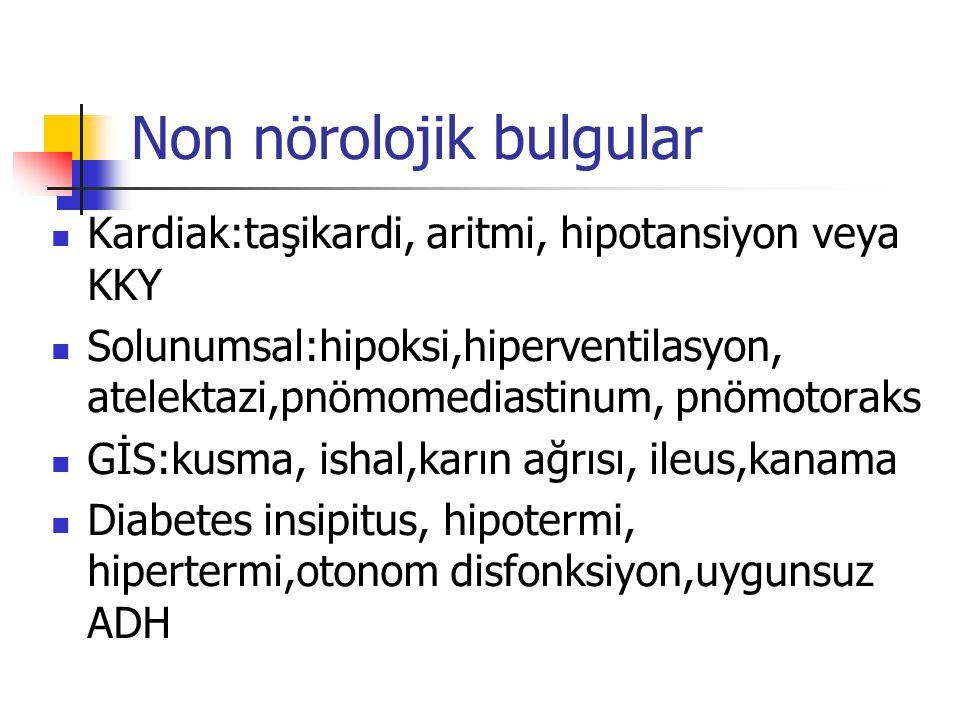 Non nörolojik bulgular