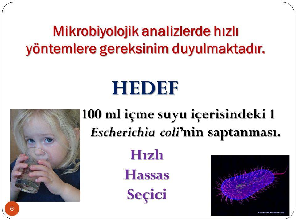 Mikrobiyolojik analizlerde hızlı yöntemlere gereksinim duyulmaktadır.