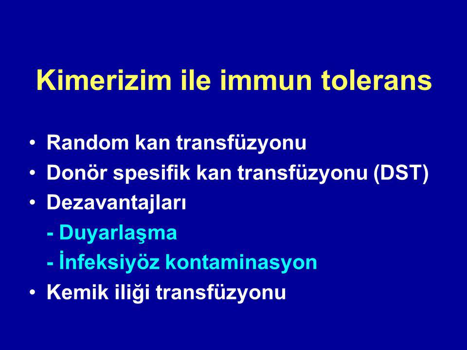 Kimerizim ile immun tolerans
