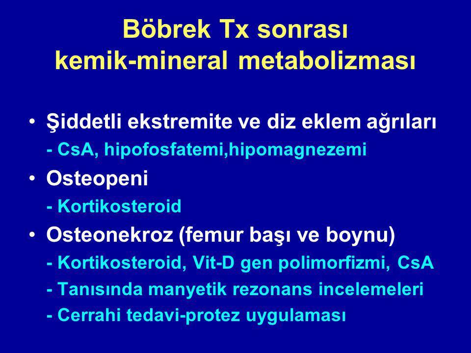 Böbrek Tx sonrası kemik-mineral metabolizması