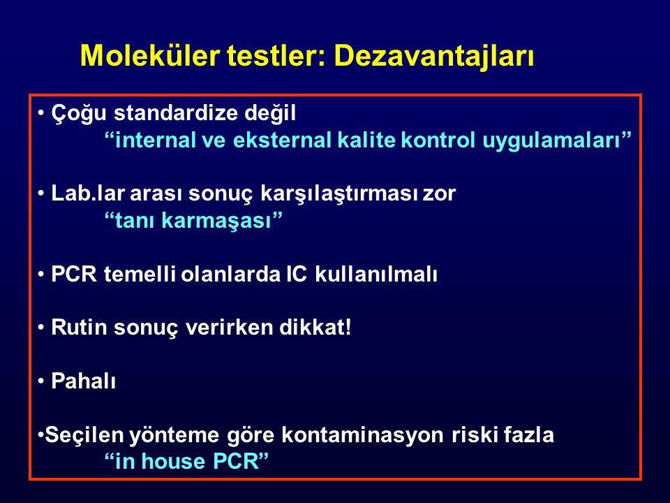 Moleküler testler: Dezavantajları