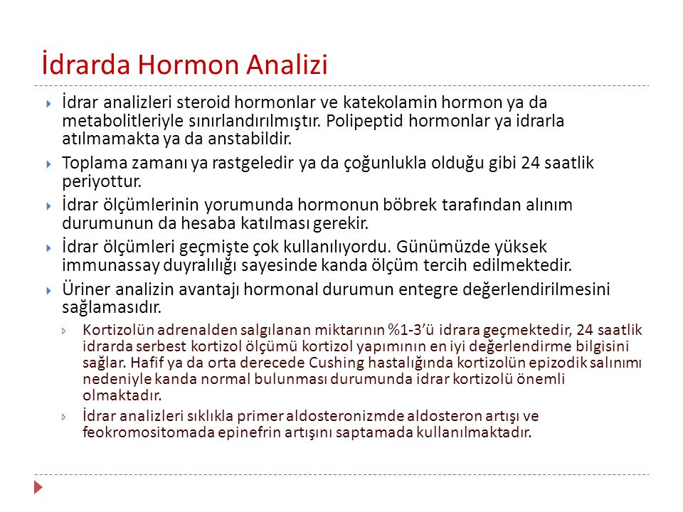 İdrarda Hormon Analizi