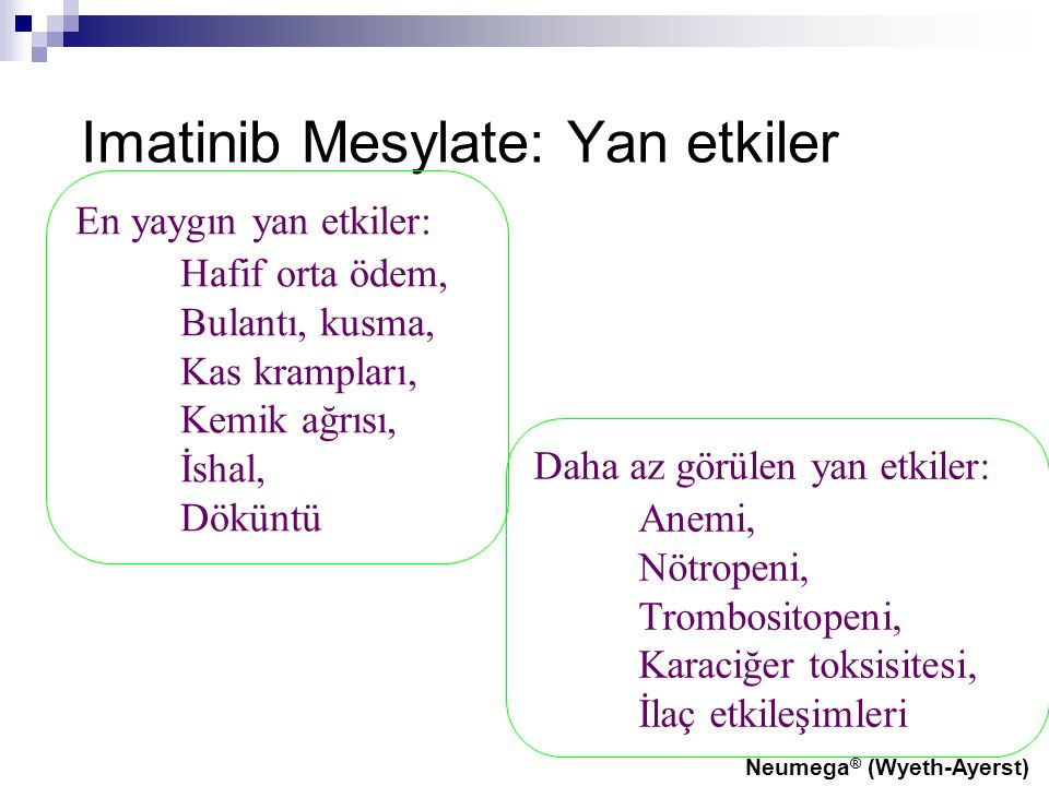 Imatinib Mesylate: Yan etkiler