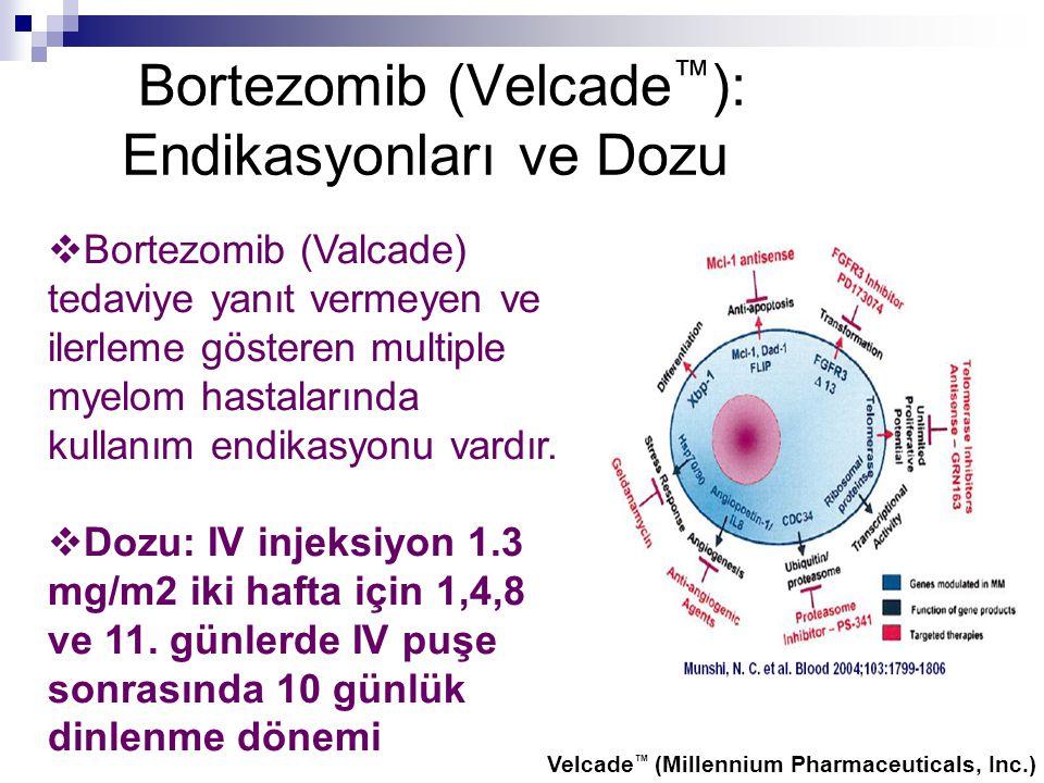 Bortezomib (Velcade™): Endikasyonları ve Dozu
