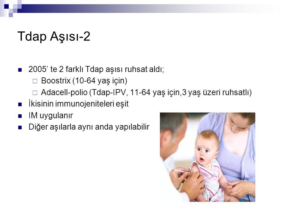 Tdap Aşısı-2 2005' te 2 farklı Tdap aşısı ruhsat aldı;