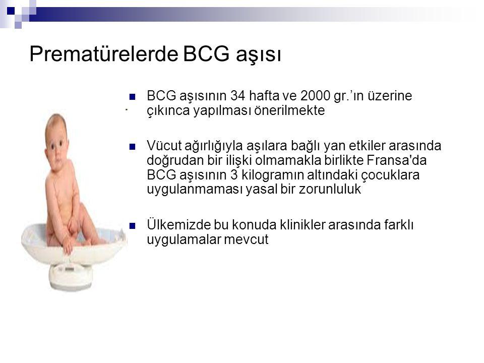 Prematürelerde BCG aşısı