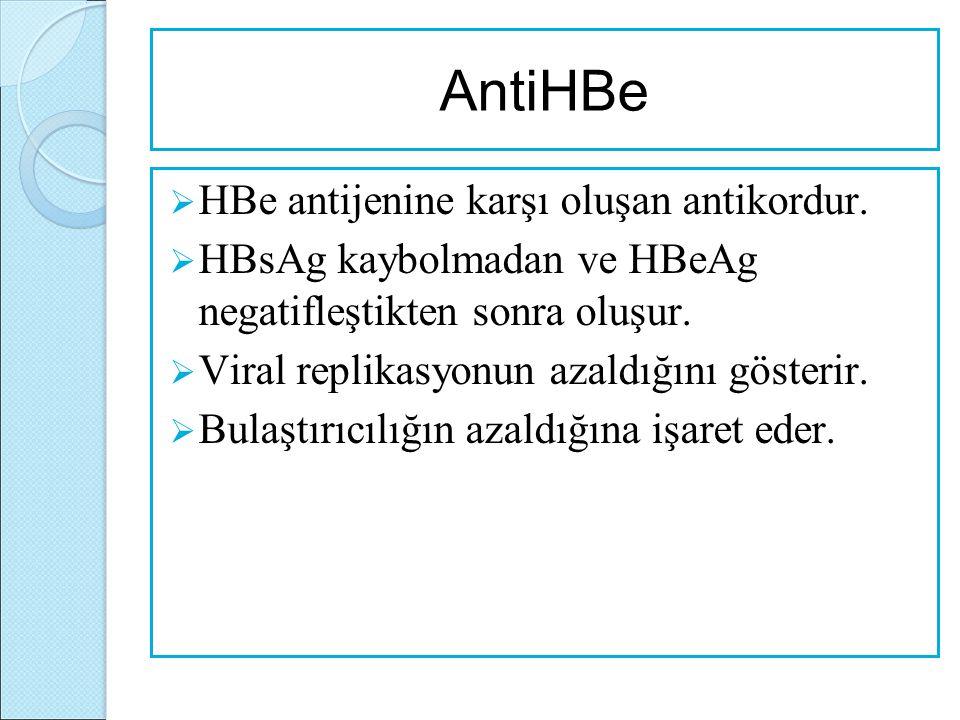 AntiHBe HBe antijenine karşı oluşan antikordur.
