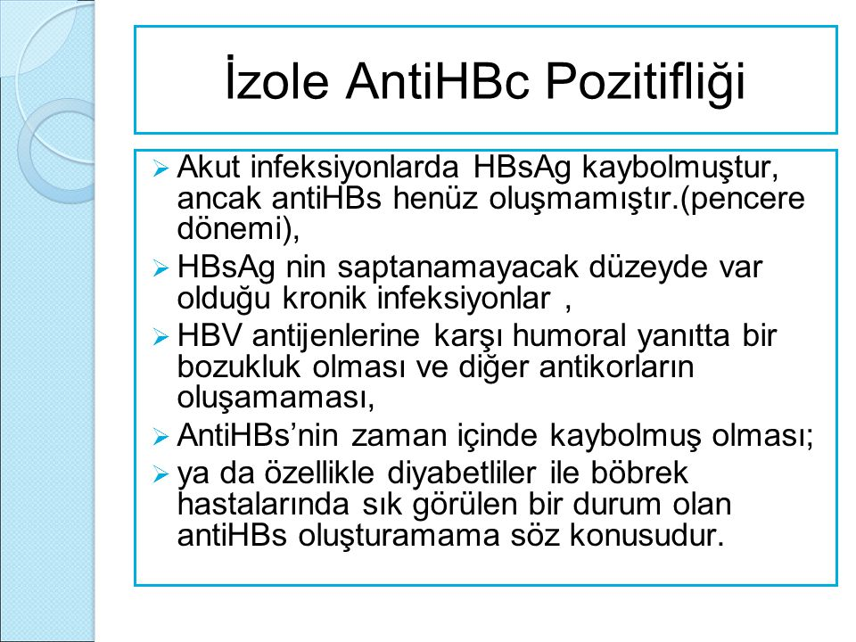İzole AntiHBc Pozitifliği