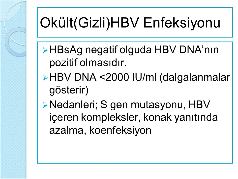Okült(Gizli)HBV Enfeksiyonu