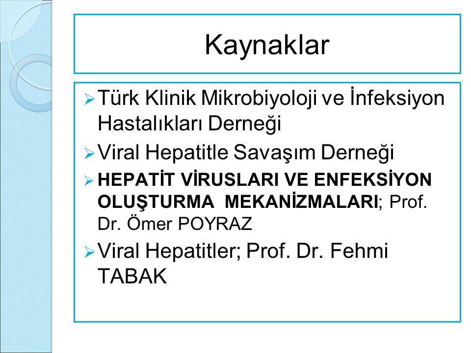 Kaynaklar Türk Klinik Mikrobiyoloji ve İnfeksiyon Hastalıkları Derneği
