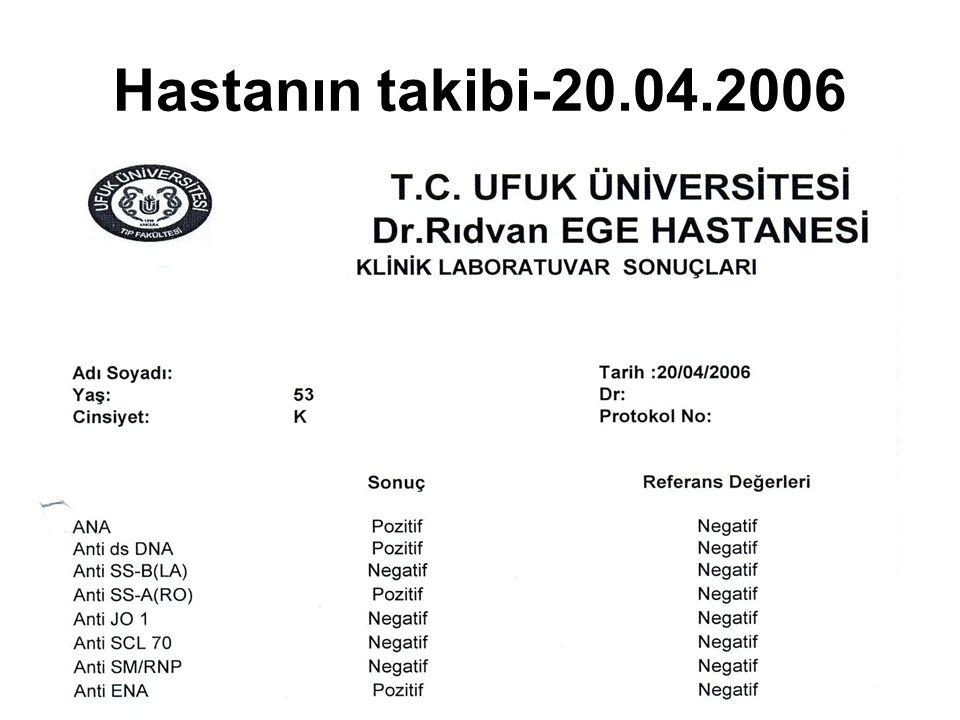 Hastanın takibi-20.04.2006