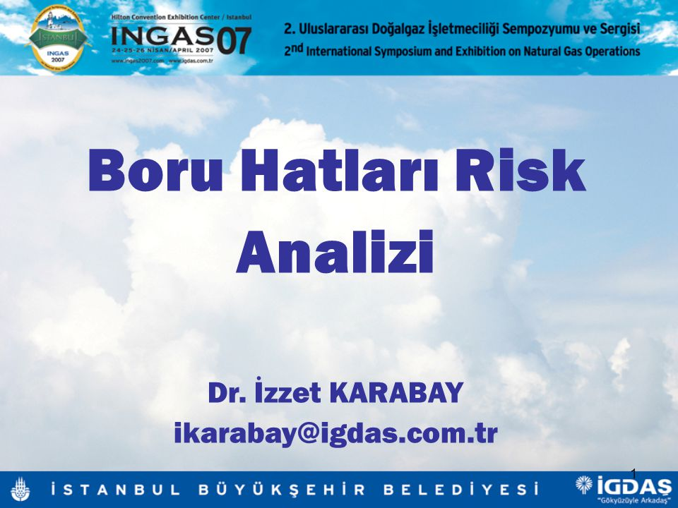Boru Hatları Risk Analizi