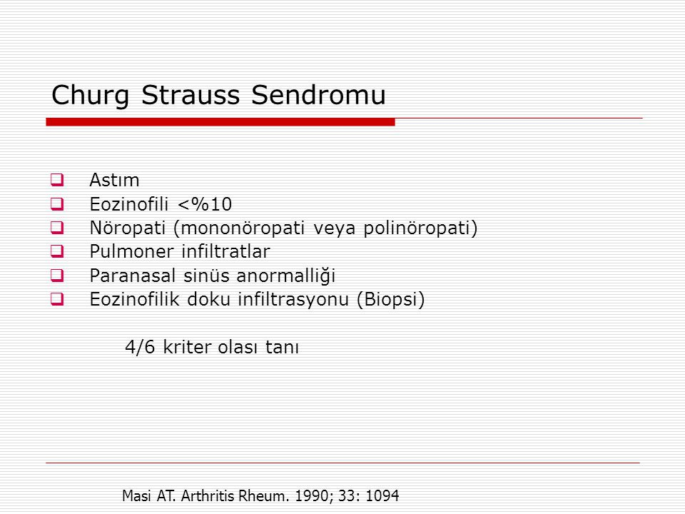Churg Strauss Sendromu