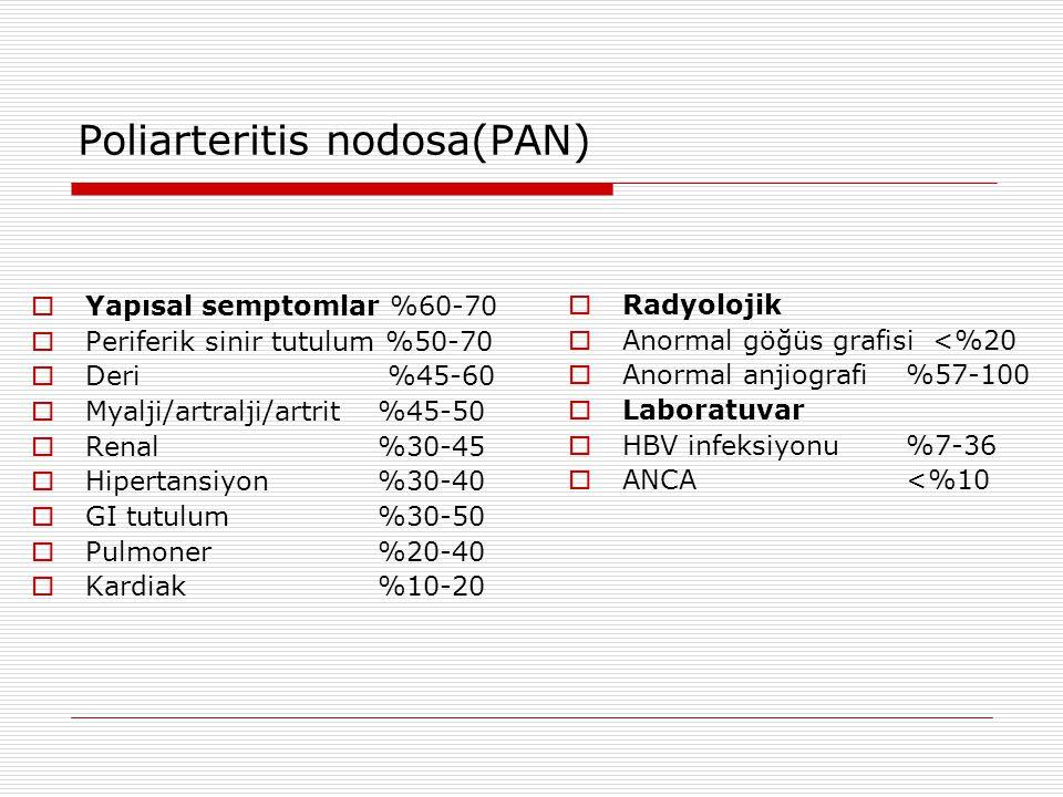 Poliarteritis nodosa(PAN)