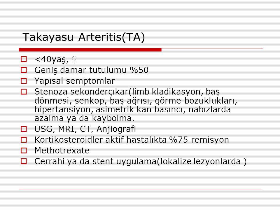 Takayasu Arteritis(TA)