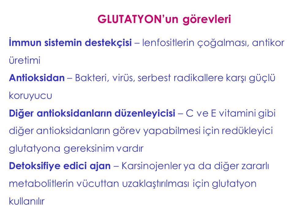GLUTATYON'un görevleri