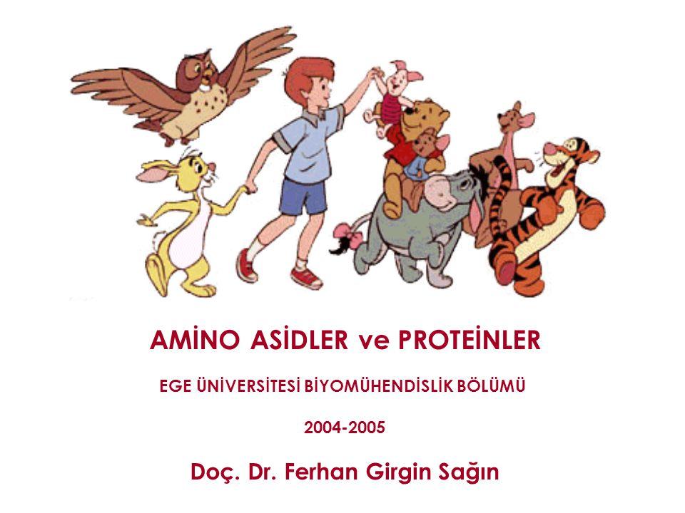 AMİNO ASİDLER ve PROTEİNLER