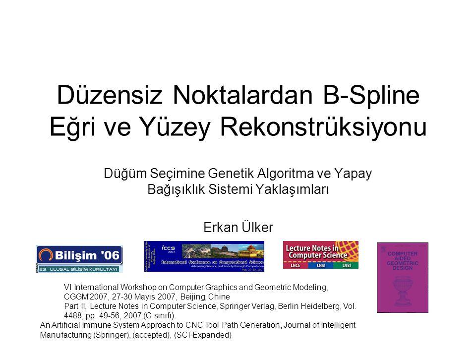 Düzensiz Noktalardan B-Spline Eğri ve Yüzey Rekonstrüksiyonu