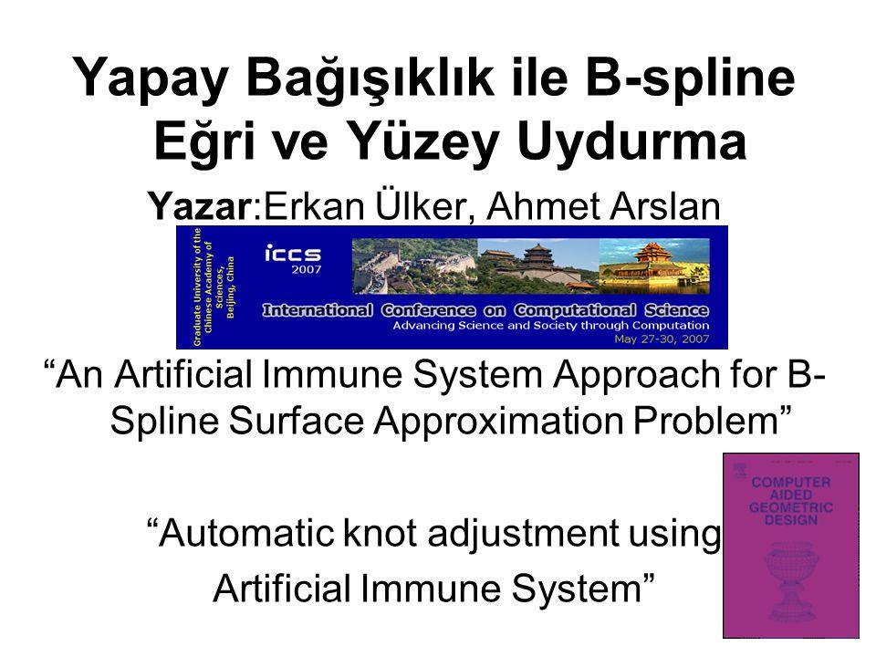Yapay Bağışıklık ile B-spline Eğri ve Yüzey Uydurma