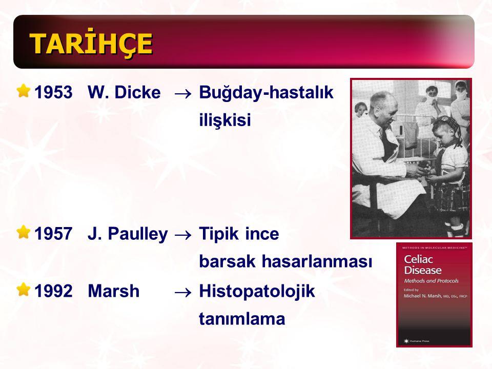 TARİHÇE 1953 W. Dicke ® Buğday-hastalık ilişkisi