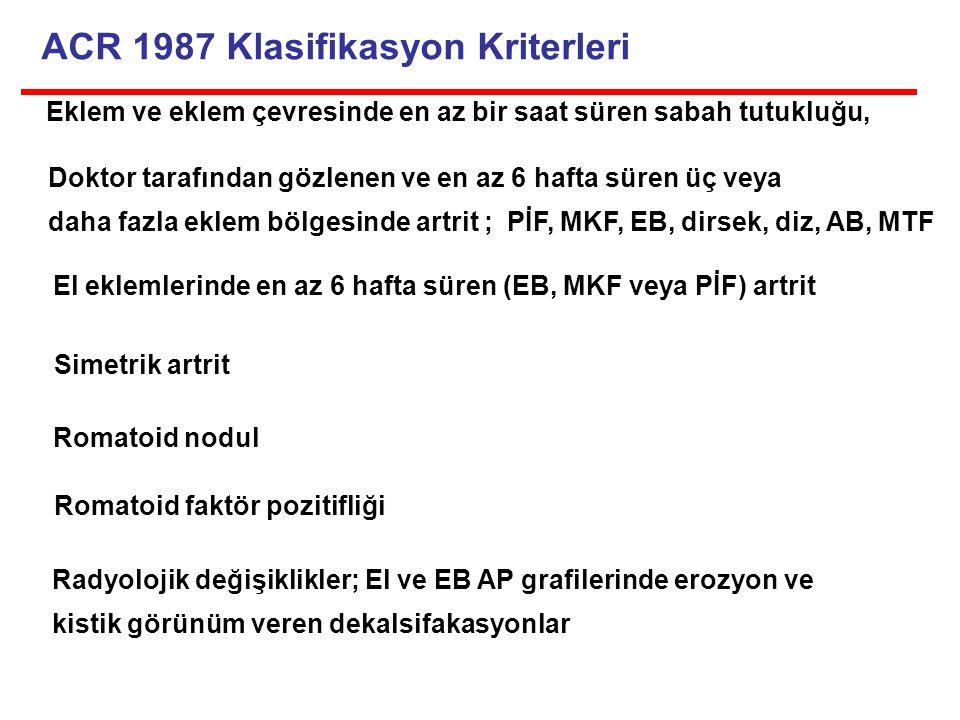 ACR 1987 Klasifikasyon Kriterleri