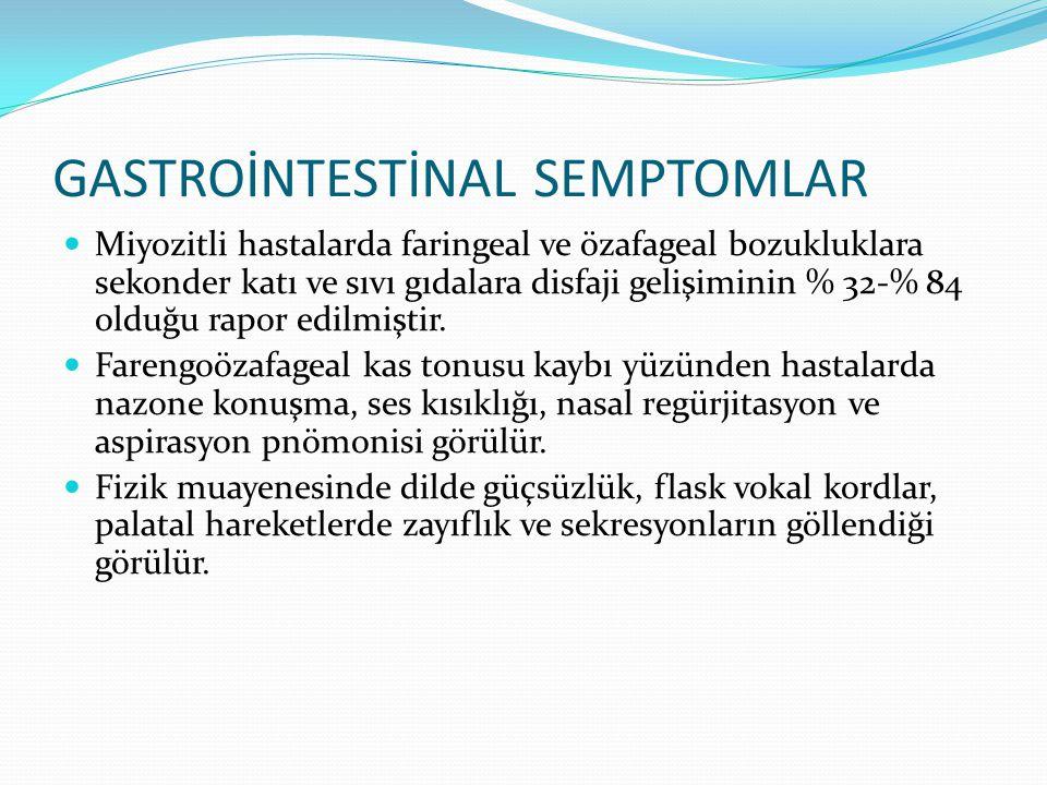 GASTROİNTESTİNAL SEMPTOMLAR