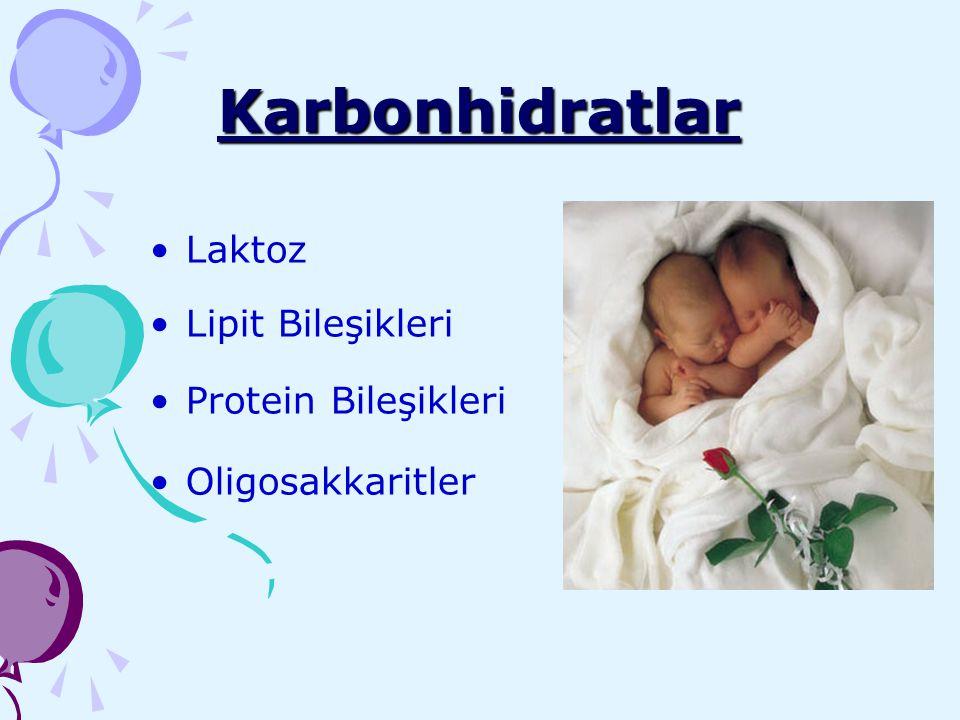 Karbonhidratlar Laktoz Lipit Bileşikleri Protein Bileşikleri