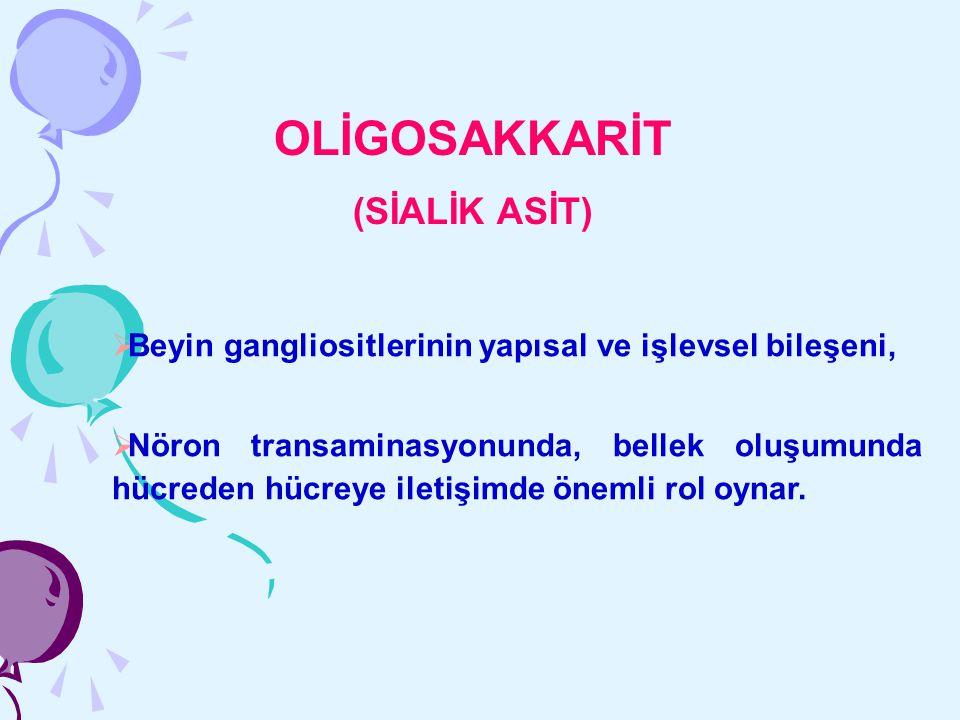 OLİGOSAKKARİT (SİALİK ASİT)