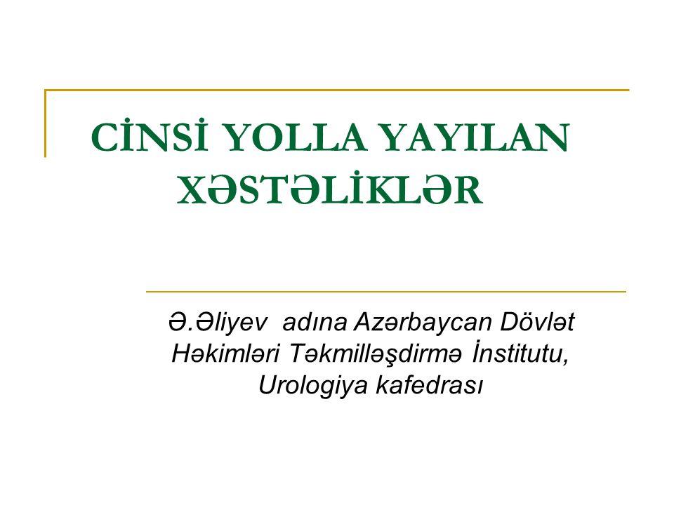 CİNSİ YOLLA YAYILAN XƏSTƏLİKLƏR