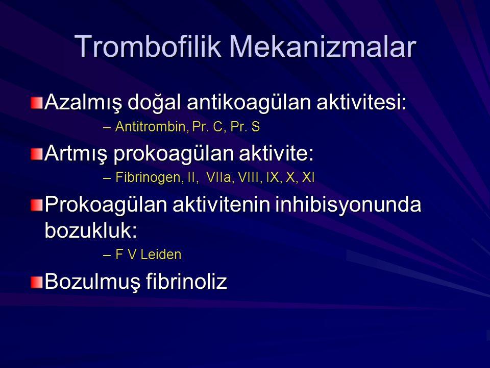 Trombofilik Mekanizmalar