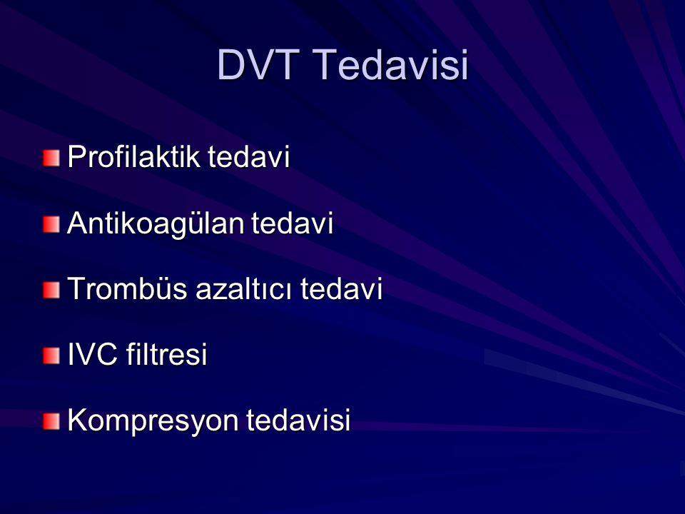 DVT Tedavisi Profilaktik tedavi Antikoagülan tedavi