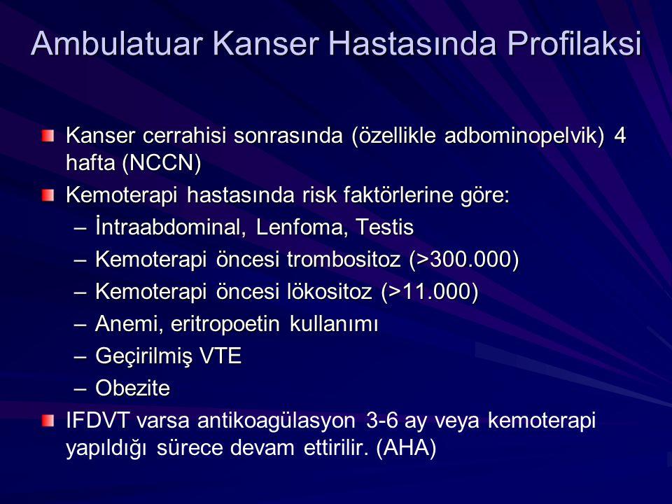Ambulatuar Kanser Hastasında Profilaksi