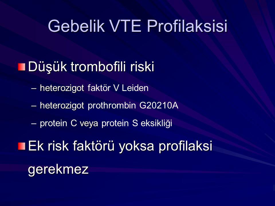 Gebelik VTE Profilaksisi