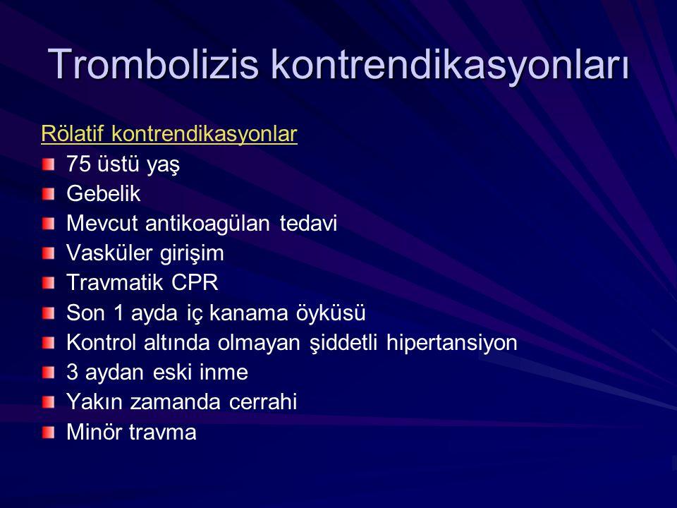 Trombolizis kontrendikasyonları