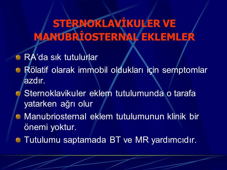 MANUBRİOSTERNAL EKLEMLER