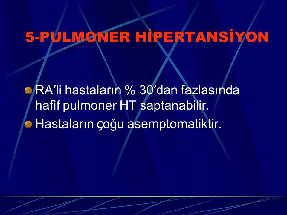 5-PULMONER HİPERTANSİYON