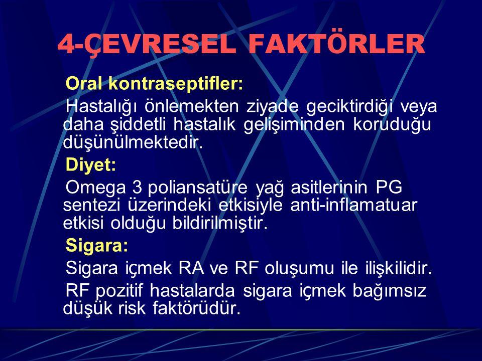 4-ÇEVRESEL FAKTÖRLER Oral kontraseptifler: