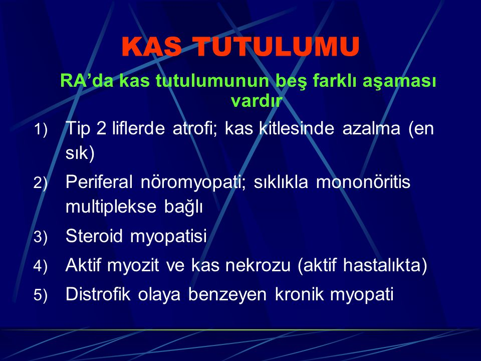 RA'da kas tutulumunun beş farklı aşaması vardır