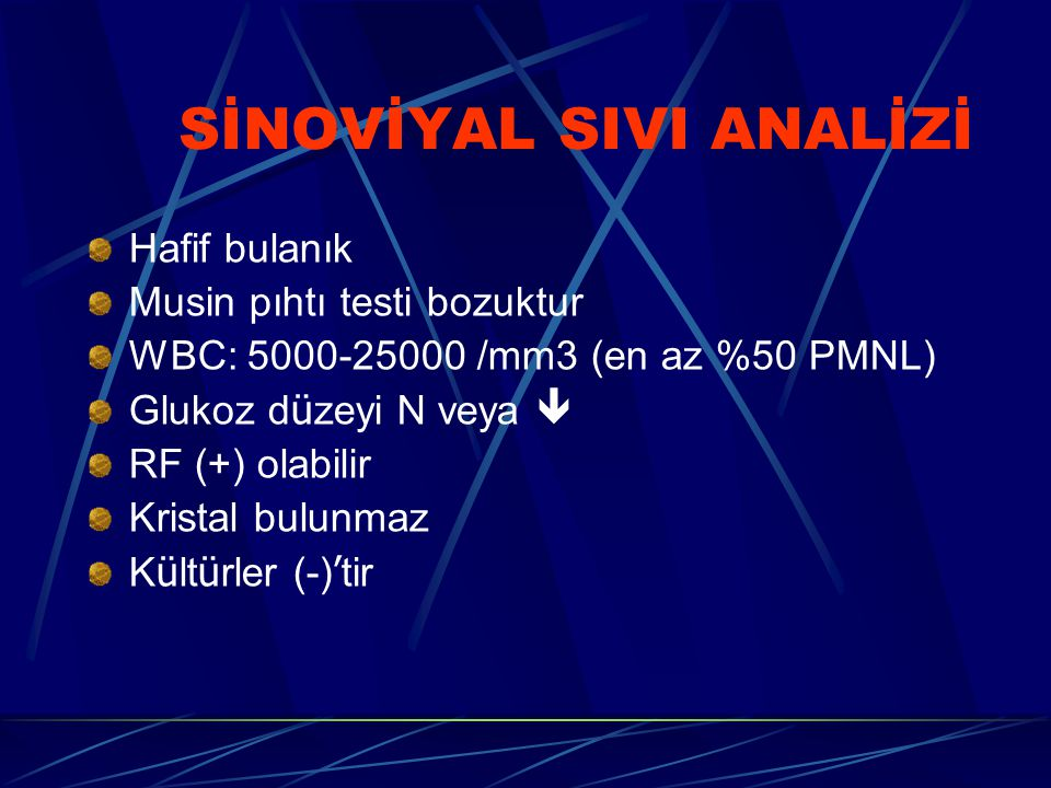 SİNOVİYAL SIVI ANALİZİ