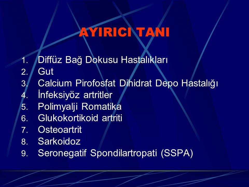 AYIRICI TANI Diffüz Bağ Dokusu Hastalıkları Gut