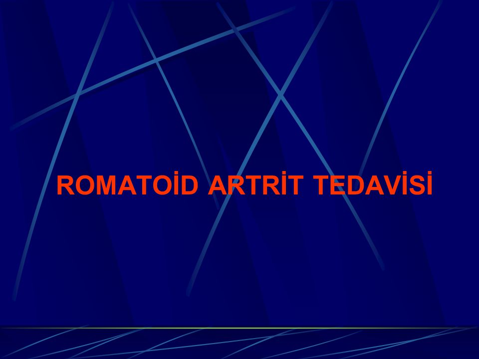 ROMATOİD ARTRİT TEDAVİSİ