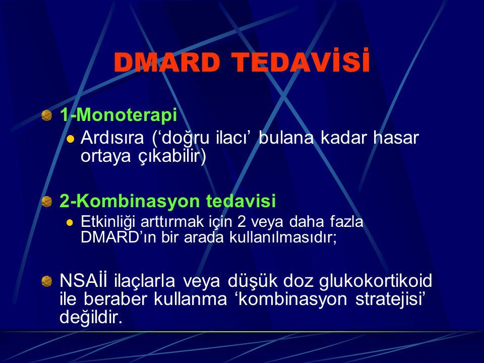DMARD TEDAVİSİ 1-Monoterapi