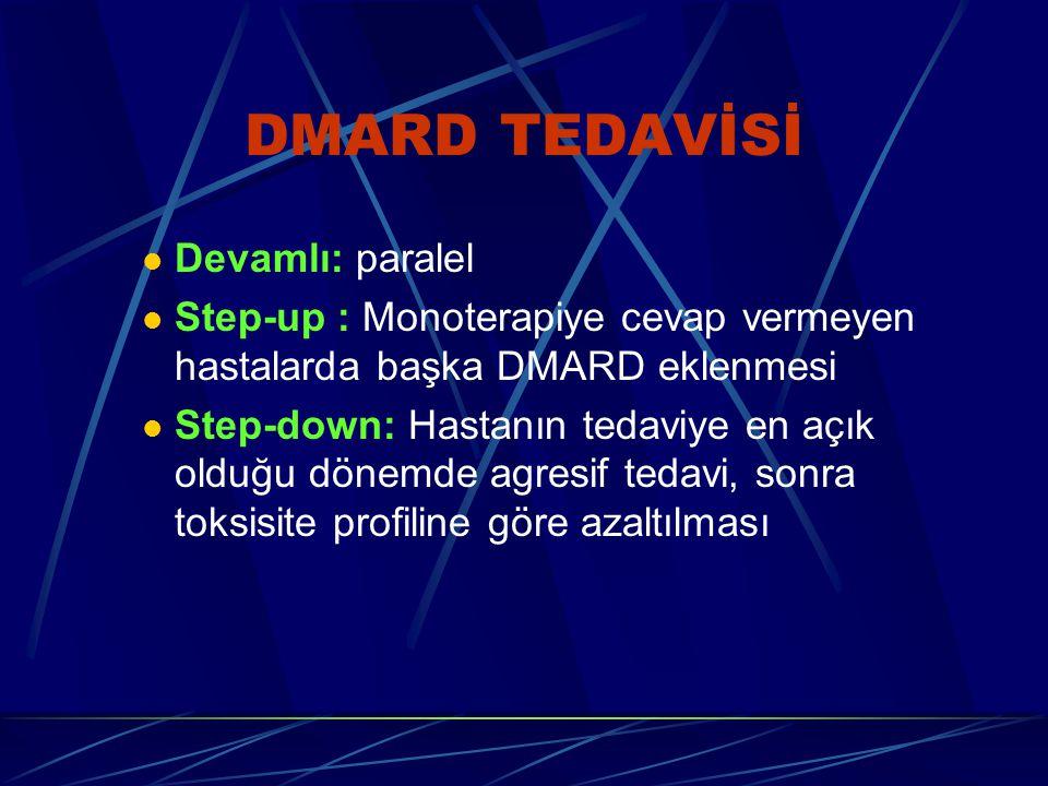DMARD TEDAVİSİ Devamlı: paralel
