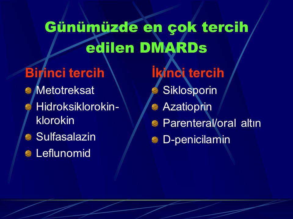 Günümüzde en çok tercih edilen DMARDs