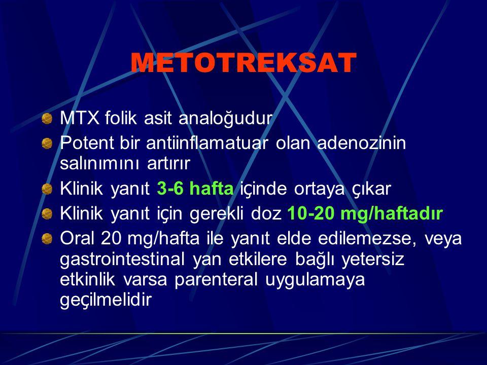METOTREKSAT MTX folik asit analoğudur
