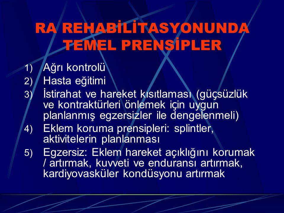 RA REHABİLİTASYONUNDA TEMEL PRENSİPLER